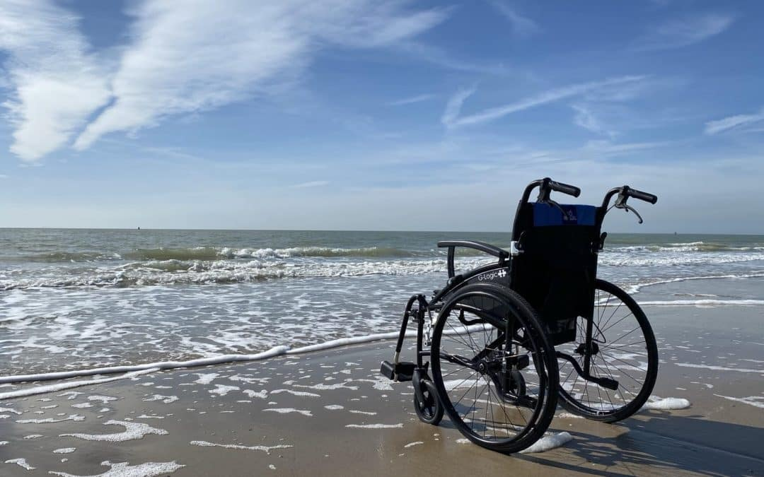 Kørestolen med på ferie
